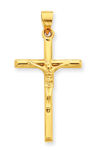 Large 14K Gold Crucifix Pendant