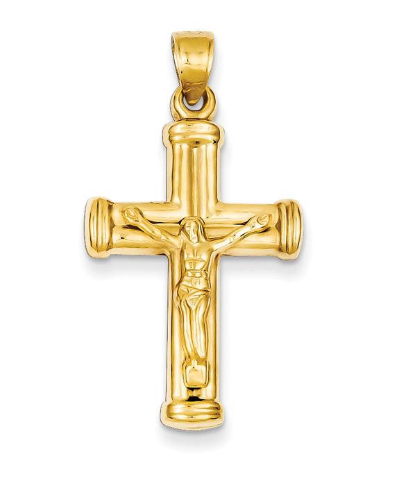 Reversible Crucifix / Cross Pendant in 14K Gold
