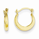 Small Polished Hoop Earrings, 14K Yellow Gold