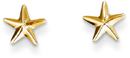 Star Post Earrings, 14K Yellow Gold