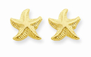 Starfish Post Earrings, 14K Gold