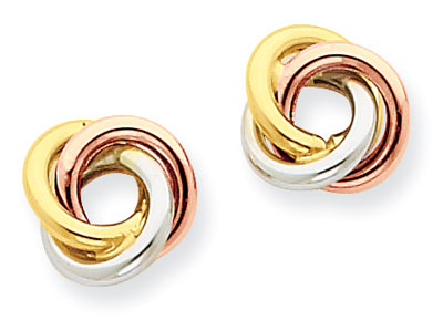 Love Knot Earrings in 14K Gold