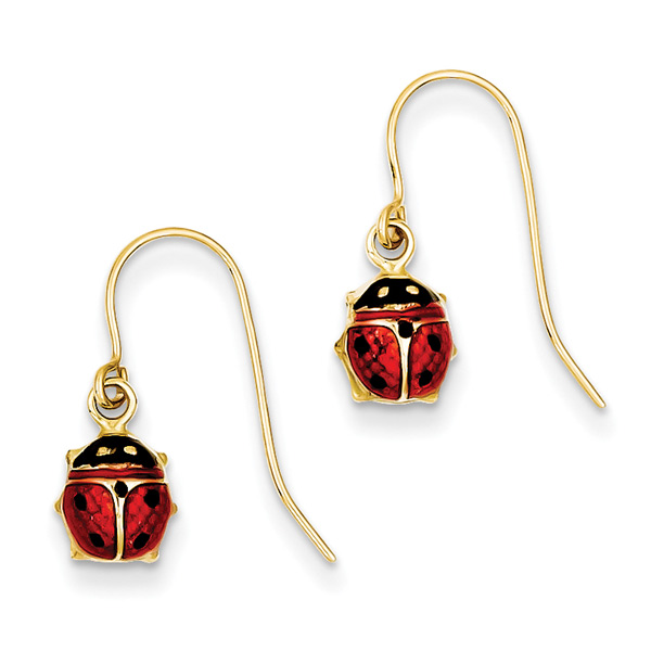 Enameled Ladybug Jewelry, Charms, Pendants, Earrings