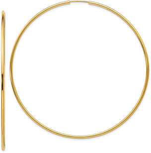 Extra Large Endless Hoop Earrings in 14K Gold (2 5/8