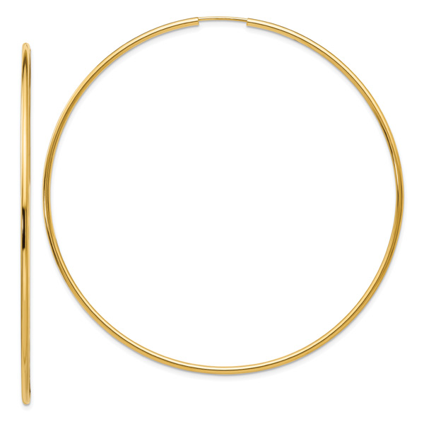 Extra Large Endless Hoop Earrings in 14K Gold (2 5/8