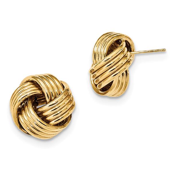 Large Loveknot Earrings in 14K Gold