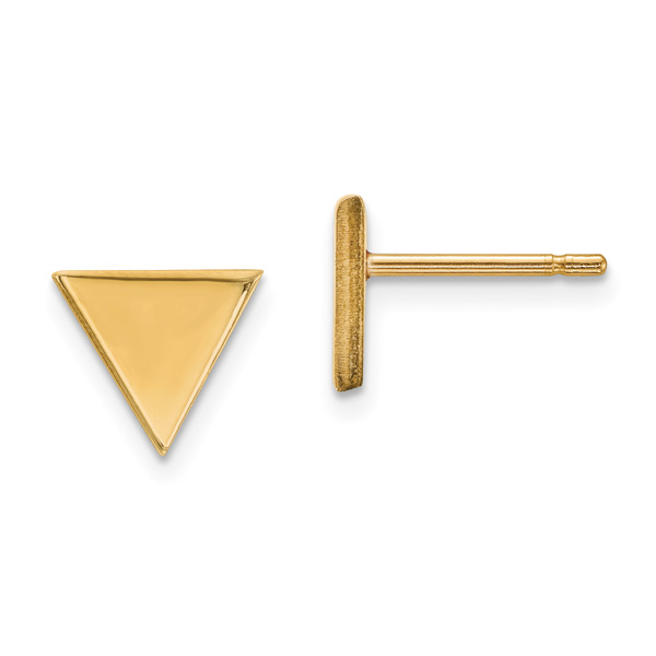 Triangle Stud Earrings in 14K Gold