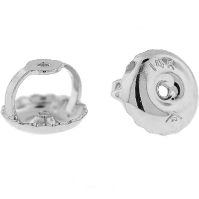 14k White Gold Replacement Screw Backs