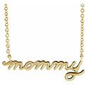 14K Gold Mommy Necklace