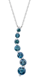 1 Carat Blue Diamond Journey Pendant