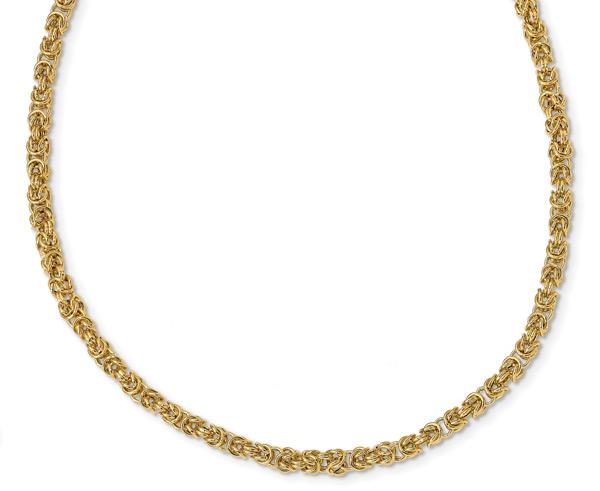 Italian Byzantine Necklace for Women, 14K Gold