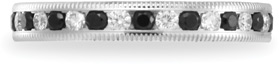 Benchmark Black and White 0.68 Carat Diamond Milligrain Eternity Band