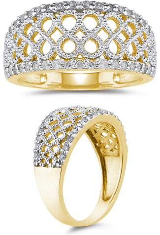 Diamond Infinity Design Ring, 0.30 Carats (Apples of Gold)