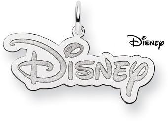 Disney Logo Pendant, Sterling Silver