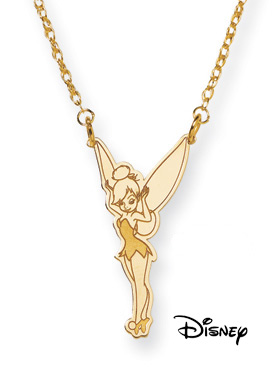 Tinkerbell Necklace, 14K Solid Yellow Gold