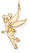 Tinkerbell Pendant, 14K Solid Yellow Gold