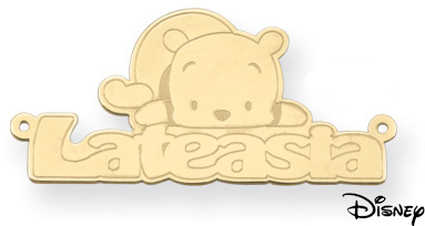 Personalized Winnie the Pooh Name Pendant