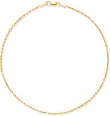 14K Yellow Gold Rope Anklet