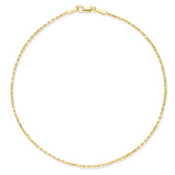 14K Gold Rope Anklet