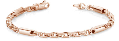 Buy Barrel Link Design Bracelet, 14K Rose Gold