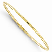 10K Yellow Gold Slip-on Twist Bangle Bracelet