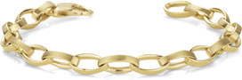 Men's Elliptical Link Bracelet, 14K Gold