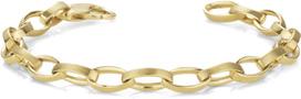 Men's Elliptical Link Bracelet, 14K Gold