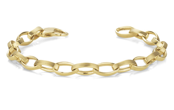 Women's Elliptical Link Bracelet, 14K Gold (Bracelets, Apples of Gold)