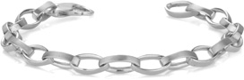 Women's Elliptical Link Bracelet, 14K White Gold
