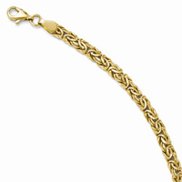 14K Yellow Gold 5mm Byzantine Bracelet