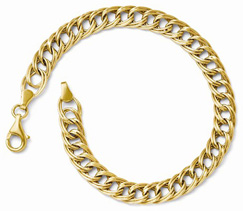 14K Yellow Gold Link Weave Bracelet for Women