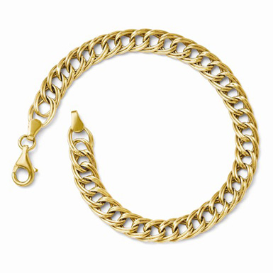 14k yellow gold link weave bracelet