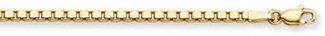 Men's 14K Gold Box Chain Bracelet (4mm)