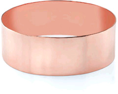 14K Rose Gold Flat Bangle Bracelet, 25mm (1