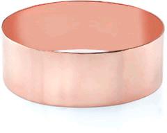 14K Rose Gold Flat Bangle Bracelet, 25mm (1