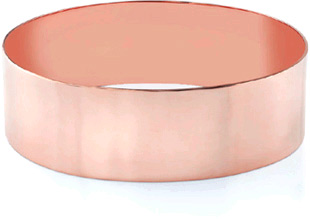 14K Rose Gold Flat Bangle Bracelet, 22mm (7/8