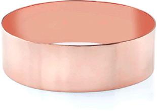 14K Rose Gold Flat Bangle Bracelet, 22mm (7/8