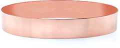 14K Rose Gold Flat Bangle Bracelet, 12mm (1/2