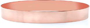 14K Rose Gold Flat Bangle Bracelet, 10mm (3/8