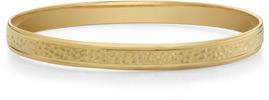 Hammered Bangle Bracelet, 14K Yellow Gold