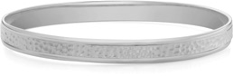 Hammered Bangle Bracelet, 14K White Gold
