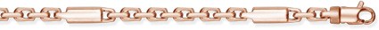 Barrel Link Design Chain, 14K Rose Gold (Bracelets, Apples of Gold)