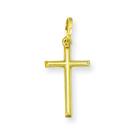 Plain Lightweight Cross Pendant in 14K Yellow Gold