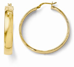 14K Yellow Gold High-Polished Hoop Earrings