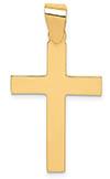 14K High Polish Yellow Gold Cross Pendant