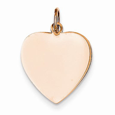 14K Rose Gold Engravable Heart Charm