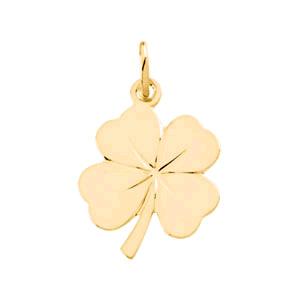 14k gold 4 leaf clover pendant