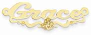 Ariel Disney Nameplate in 14K Yellow Gold