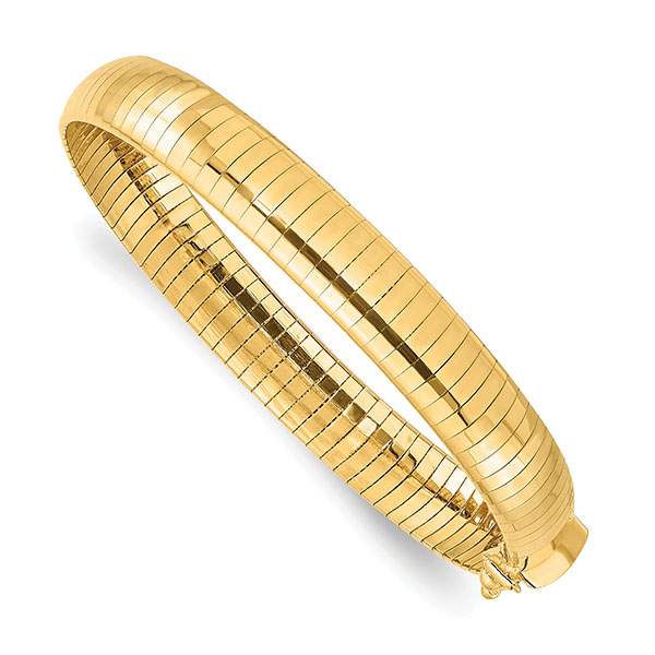 Italian 14K Gold 8mm Omega Bracelet