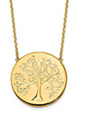 Italian 14K Solid Gold Tree of Life Necklace, 18 Inches